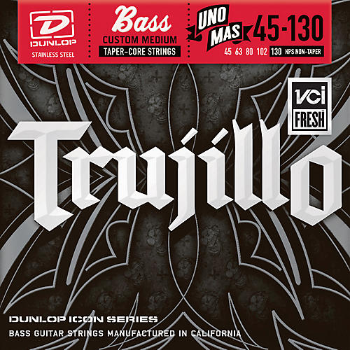 Dunlop Robert Trujillo Icon Series Bass Guitar Strings - Uno Mas 5-String Set-thumbnail