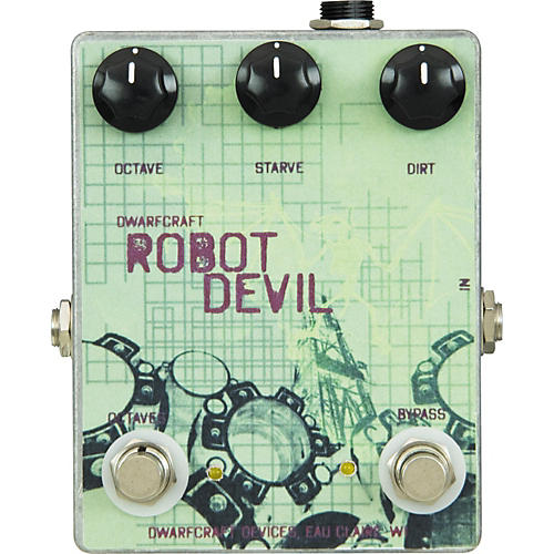 Dwarfcraft Robot Devil Fuzz Guitar Effects Pedal