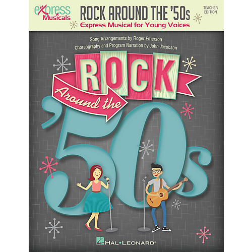 Hal Leonard Rock Around the '50s (Express Musical for Young Voices) singer 20 pak Arranged by Roger Emerson-thumbnail
