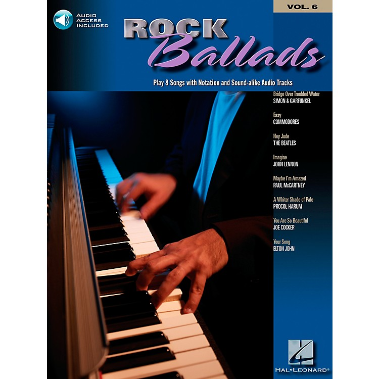 Hal Leonard Rock Ballads Keyboard Play-Along Volume 6 Book with CD