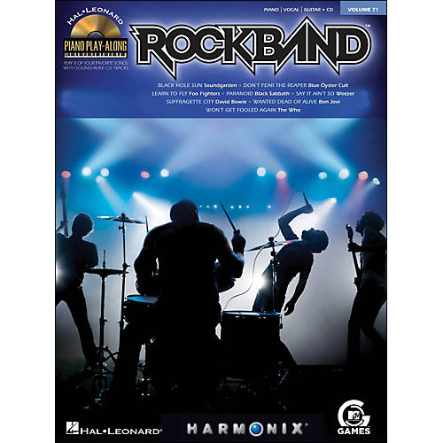 Hal Leonard Rock Band - Piano Play-Along Volume 71 (CD/Pkg) arranged for piano, vocal, and guitar (P/V/G)