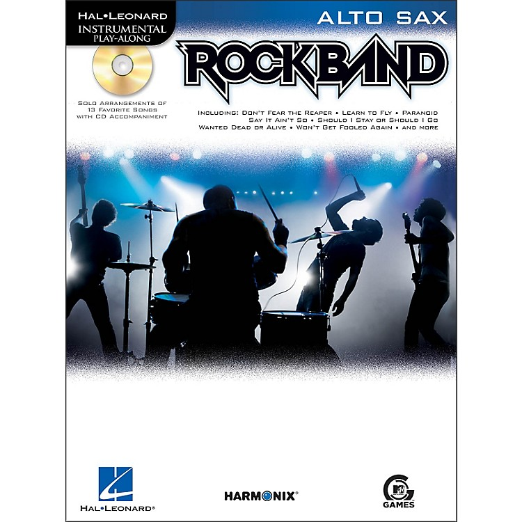 Hal Leonard Rock Band for Alto Sax Instrumental Play-Along Book/CD