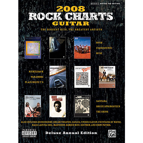 Alfred Rock Charts 2008 Deluxe Annual Edition Guitar Tab Book