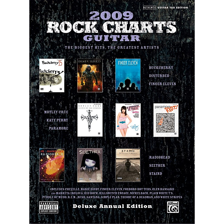 Alfred Rock Charts 2009 Deluxe Annual Edition Guitar Tab Book