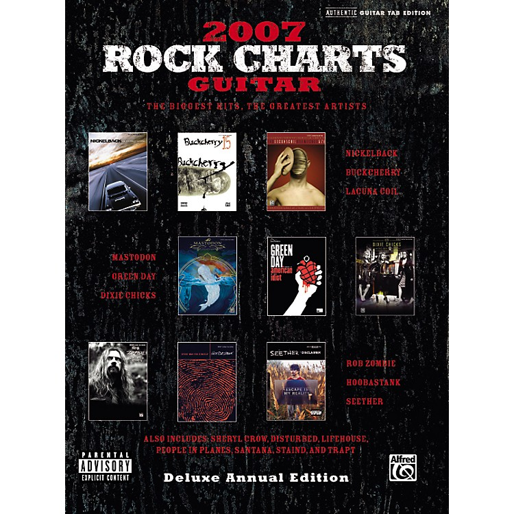 Alfred Rock Charts Guitar Tab Songbook 2007: Deluxe Annual Edition