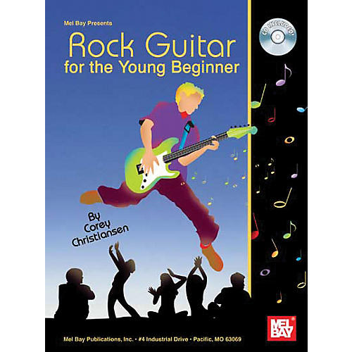 mel bay rock guitar for the young beginner book and cd musician 39 s friend. Black Bedroom Furniture Sets. Home Design Ideas