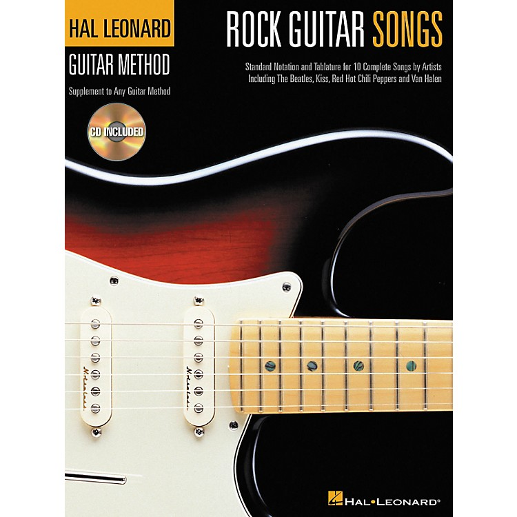 Hal Leonard Rock Guitar Songs Method Suppliment Book with CD