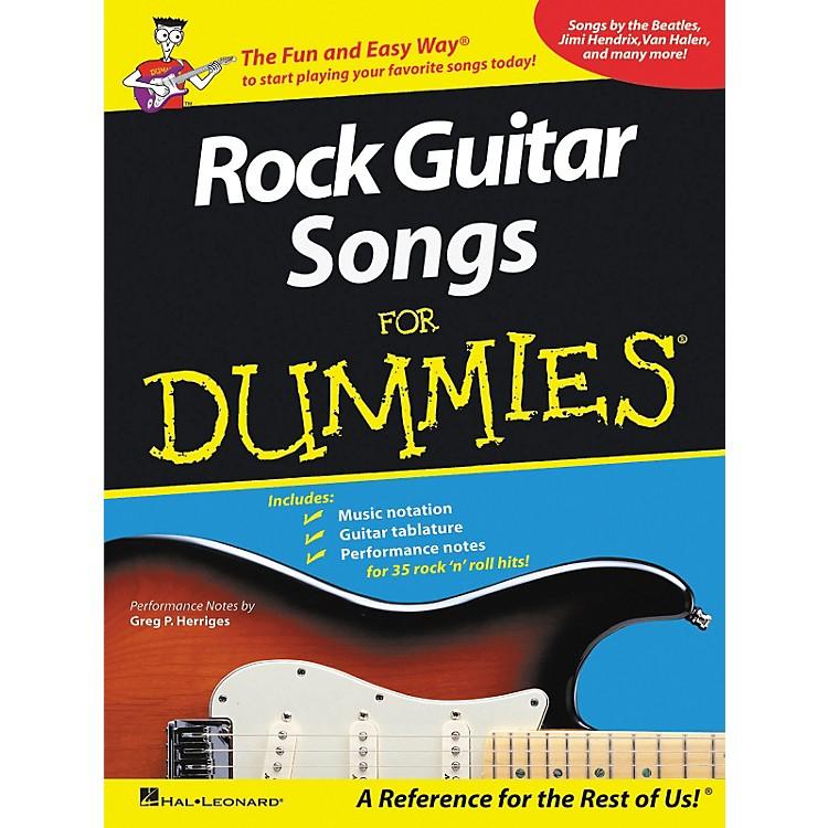 Hal LeonardRock Guitar Songs for Dummies