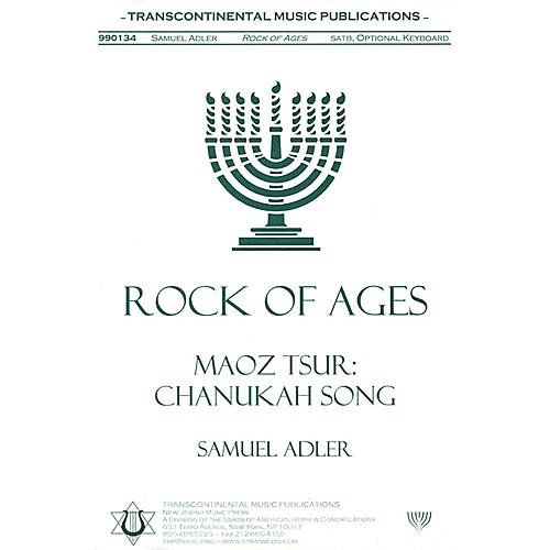 Transcontinental Music Rock Of Ages (Maoz Tsur) SATB arranged by Samuel Adler