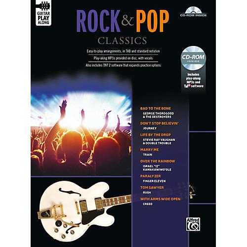 Alfred Rock & Pop Classics Guitar Play-Along Guitar TAB Book & CD-ROM Songbook-thumbnail