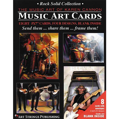 Art Strings Rock Solid Greeting Cards 8-Pack