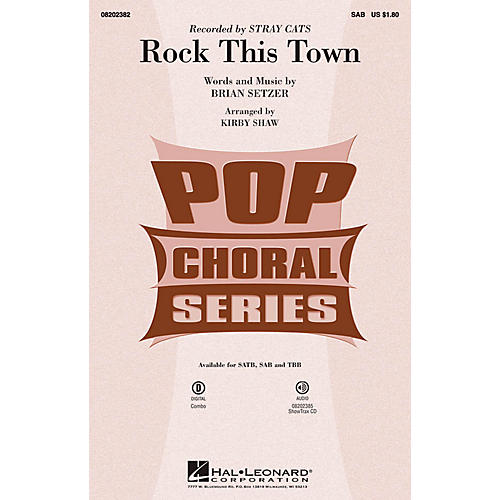 Hal Leonard Rock This Town SAB by Stray Cats arranged by Kirby Shaw-thumbnail