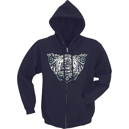 Sailor Jerry Rocked in the Cradle of the Deep Men's Zippered Hoodie