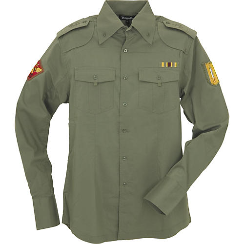 Dragonfly Clothing Company Rocker's Navy Military Woven Shirt-thumbnail