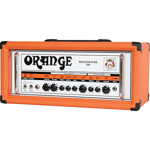 Orange Amplifiers Rockerverb 100 RK100HTC 100W Tube Guitar Amp Head-thumbnail