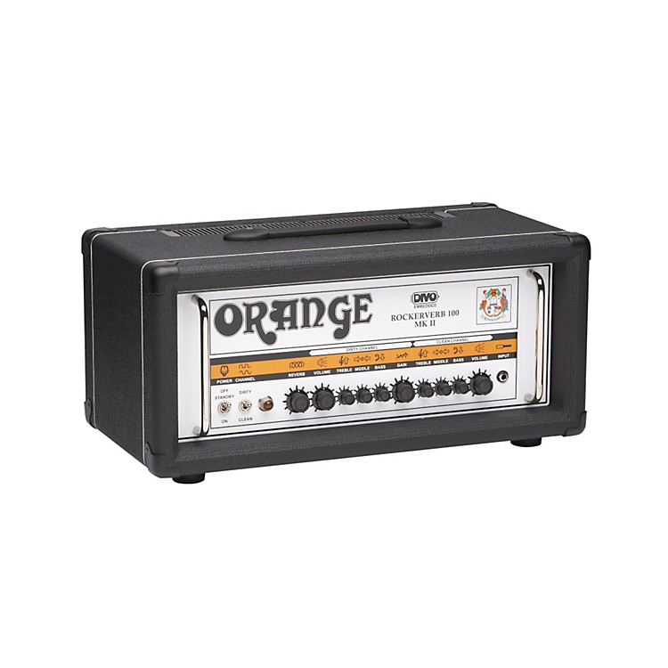 Orange Amplifiers Rockerverb RK100H MKII 100W DIVO Fitted Tube Guitar Amp Head Black