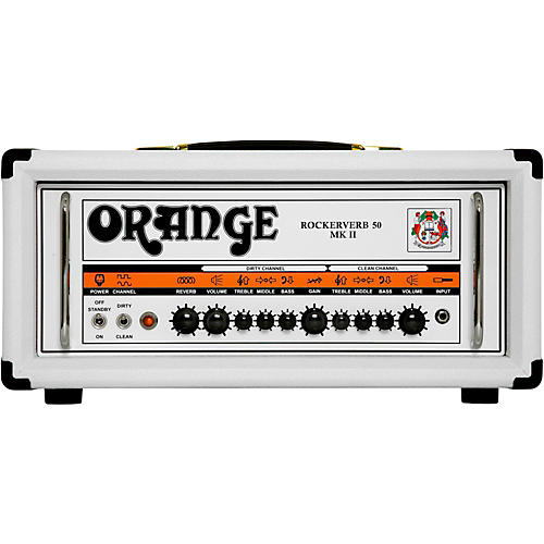 Orange Amplifiers Rockerverb RK50H MKII 50W Fitted Tube Guitar Amp Head in Limited Edition White