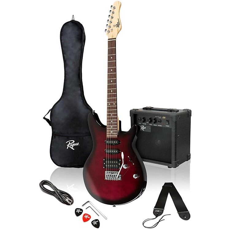 Rogue Rocketeer Electric Guitar Pack Purpleburst