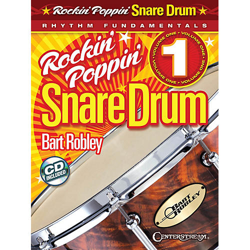 Hal Leonard Rockin' Poppin' Snare Drum, Vol. 1 Percussion Series Softcover with CD Written by Bart Robley-thumbnail