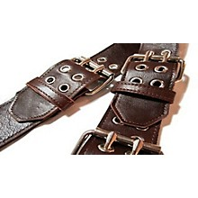 "Jodi Head Roller Buckle Leather 2.5"" Wide Guitar Strap Brown"