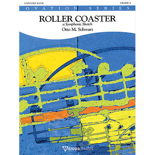 Mitropa Music Roller Coaster (Score Only) Concert Band Level 4 Composed by Otto M. Schwarz-thumbnail