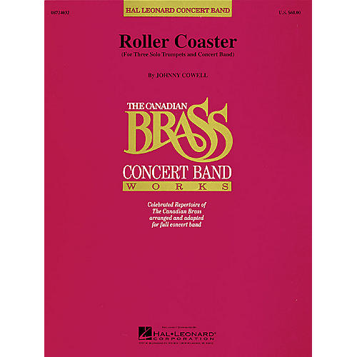 Hal Leonard Roller Coaster (Trumpet Trio Feature with Band) Concert Band Level 4-5 Composed by Johnny Cowell-thumbnail