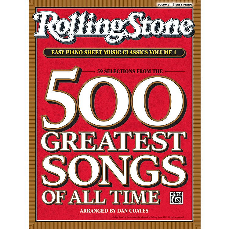 Alfred Rolling Stone Easy Piano Sheet Music Classics Volume 1 (Book)