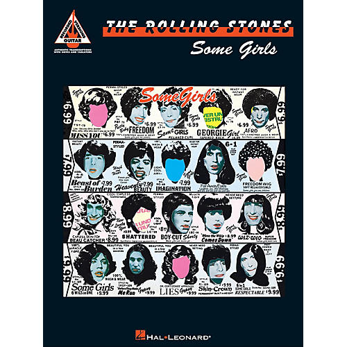 Hal Leonard Rolling Stones - Some Girls Guitar Recorded Version Series Softcover Performed by Rolling Stones-thumbnail