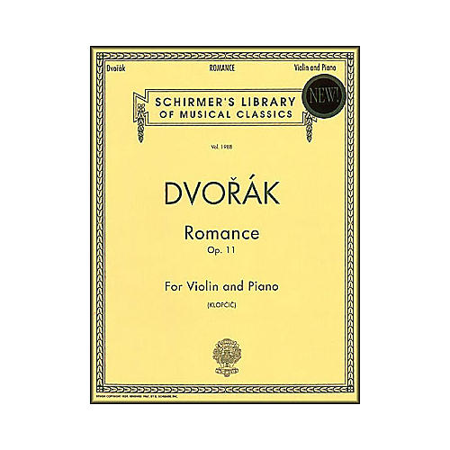 G. Schirmer Romance Op 11 Vn/Pno Violin & Piano By Dvorak
