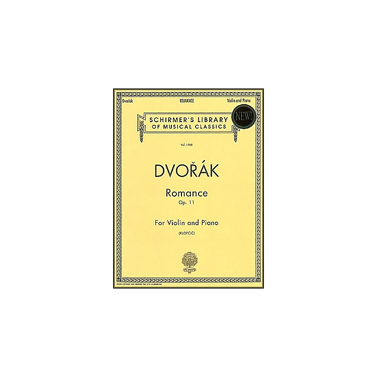 G. SchirmerRomance Op 11 Vn/Pno Violin & Piano By Dvorak