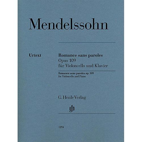 G. Henle Verlag Romances sans paroles, Op. 109 (Cello and Piano) Henle Music Folios Series Softcover-thumbnail