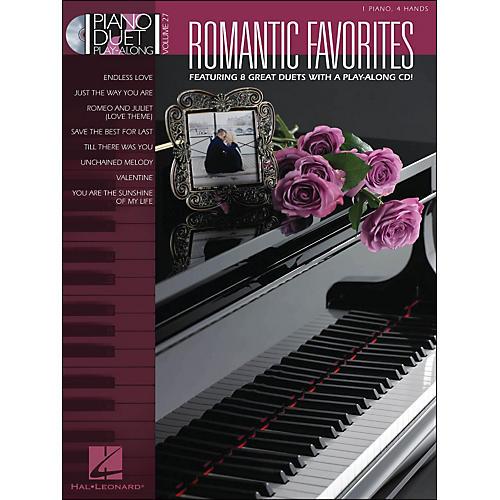 Hal Leonard Romantic Favorites Piano Duetplay-Along Volume 27 Book/CD