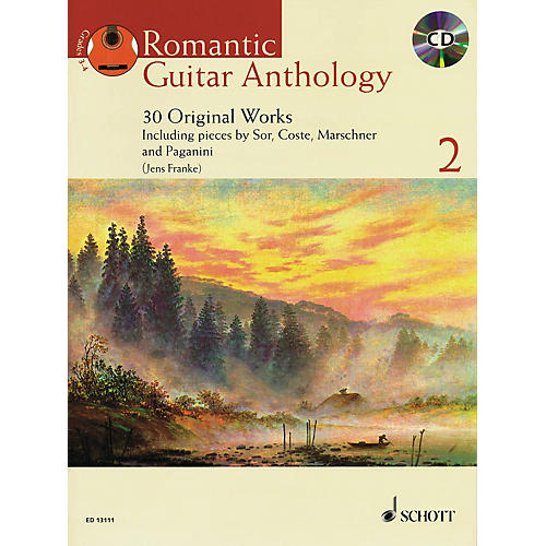 Schott Romantic Guitar Anthology - Volume 2 (30 Original Works) Guitar Series Softcover with CD