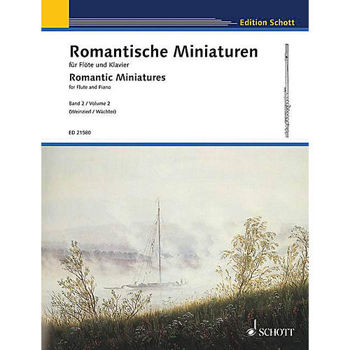 Schott Romantic Miniatures for Flute and Piano - Volume 2 Woodwind Series Softcover-thumbnail