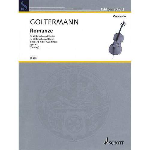 Schott Romanze in E minor, Op. 17 (for Cello and Piano) String Series Softcover-thumbnail