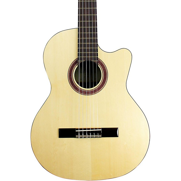 Kremona Rondo Cutaway Acoustic-Electric Classical Guitar with Hardshell Case Natural