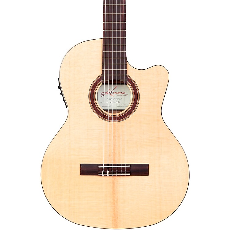 Kremona Rondo Thin Line Classical Acoustic-Electric Guitar Natural