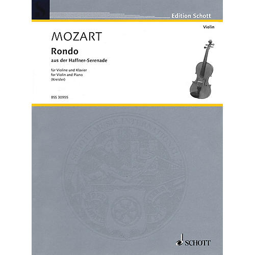 Schott Rondo from the Haffner-Serenade, KV. 250 (Kreisler Masterpieces for Violin) Schott Series-thumbnail