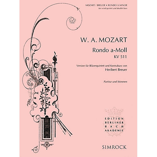 Simrock Rondo in A Minor, K. 511 Series Composed by Wolfgang Amadeus Mozart-thumbnail