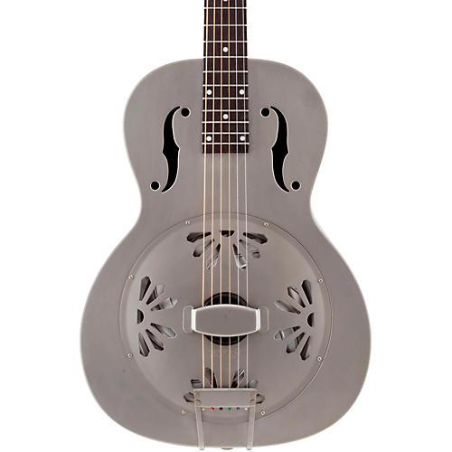 Gretsch Guitars Root Series G9201 Honeydipper Metal Round Neck Resonator Nickel Plated Brass Body