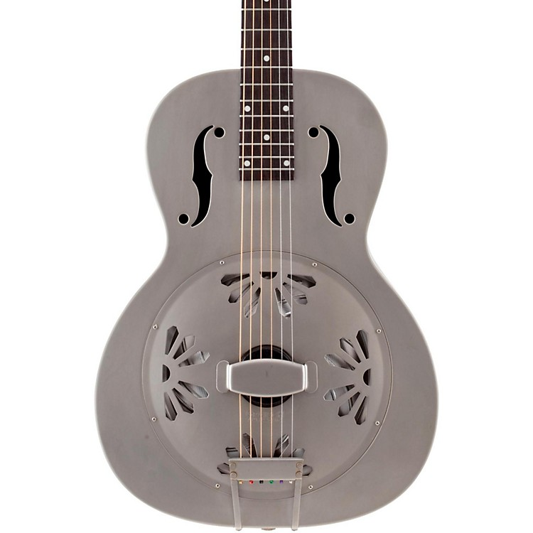 Gretsch Guitars Root Series G9201 Honeydipper Metal Round Neck Resonator Nickel Plated Brass Body