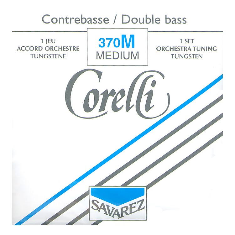 Corelli Rope Core Bass Strings Set, Medium 3/4 Size
