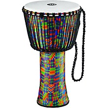 Meinl Rope-Tuned Djembe with Synthetic Shell and Head 14 in. Kenyan Quilt