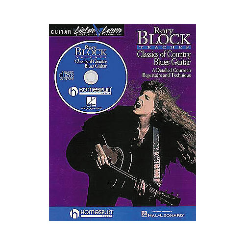 Homespun Rory Block Teaches Classics of Country Blues Guitar (Book/CD)