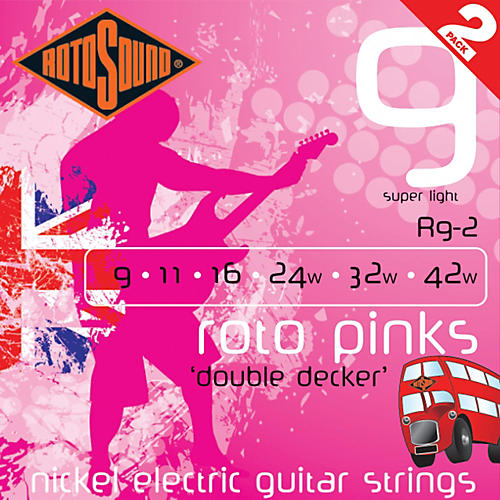 Rotosound Roto Pinks Double Deckers 2-Pack