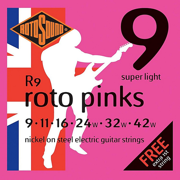 Rotosound Roto Pinks Super Light Electric Guitar Strings