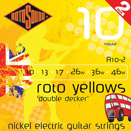 Rotosound Roto Yellows Double Deckers 2-Pack