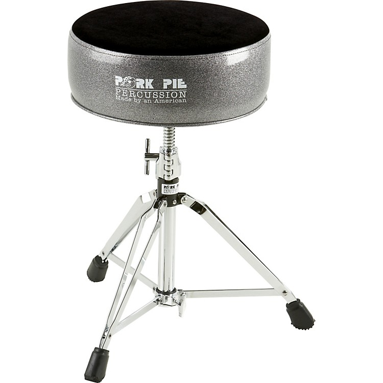 Pork PieRound Drum ThroneBlack Sparkle