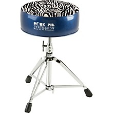 Pork Pie Round Drum Throne Blue with Zebra Top