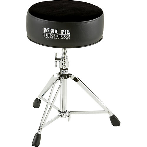 Pork Pie Round Drum Throne Solid Black